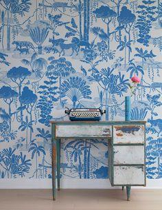 Jungle Dream Wallpaper in (Blue) Orinoco Wallpaper by Aimee Wilder