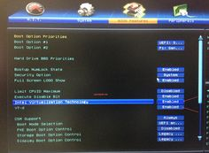 Bios Feature Settings
