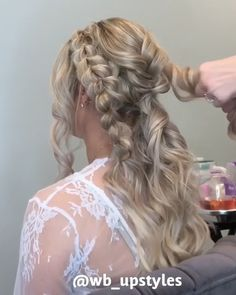 """Beautiful Wedding Updo - Wedding hairstyle """" Wedding hairstyle Best Picture For trends memes For Your Taste You are look - Wedding Hair And Makeup, Wedding Updo, Bridal Hair, Bridal Braids, Half Up Wedding Hair, Wedding Hairstyles Tutorial, Bride Hairstyles, Updos Hairstyle, Short Hair Styles Easy"""