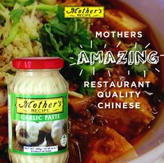 The key ingredient for awesome homemade Chinese food is garlic! Use Mother's recipe Garlic Paste to keep the flavor ijn your food and the smell off your hands!