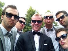 Brian Bickell, Shaw, Crawford and friends at Brian's wedding Aug. 3, 2013