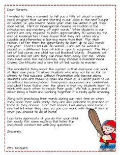 A Differentiated Kindergarten: Dear Parents, Get Ready For Ball Words