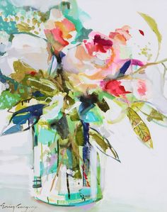 Erin Gregory Go With The Flow 5 / Stellers Gallery Abstract Flowers, Watercolor Flowers, Watercolor Paintings, Floral Paintings, Watercolors, Art Floral, Erin Gregory, Acrylic Art, Oeuvre D'art
