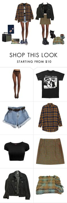 """sneaking out the back door"" by melissaemily08 ❤ liked on Polyvore featuring Wolford, Monki, American Apparel, Woven Workz and Converse"