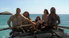 """4.13/14 """"There's No Place Like Home (Part 2 & 3)"""" – The Oceanic 6, Jack, Hurley, Kate, Baby Aaron, Sun, and Sayid."""