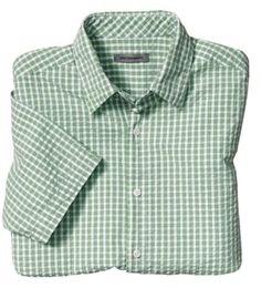 d4abca896e42 Johnston   Murphy Classic Fit Framed Gingham Seersucker Camp Shirt -  ShopStyle