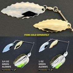 Bassdozer spinnerbaits BIG WILLOW DOUBLE 1 oz ALEWIFE spinnerbait spinner baits