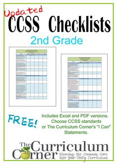 We've finished the updated second gradeCCSS checklists some of you have been asking for! Our common core standards checklists are just what you need to help you keep track of thestandardstaught in your classroom. Use these to make sure you areaddressingall thatyou need to teachthroughout the course of the school year. Keep track of when …