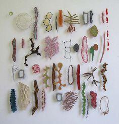 K A T H R Y N C L A R K: Artist : Marian Bijlenga Collage Kunst, Instalation Art, Natural Forms, Fabric Art, Textures Patterns, Textile Art, Fiber Art, Jewelry Art, Contemporary Art
