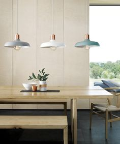 Croft 1 Light Pendant in Brushed Copper/Mint | Pendant Lights | Lighting