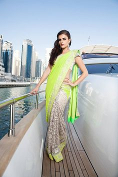 Neon Green saree #saree #sari #blouse #indian #outfit #shaadi #bridal #fashion #style #desi #designer #wedding #gorgeous #beautiful