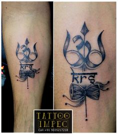 # Trishul with Om #  ;) Get inked from Experienced Tattoo Professional.. Call: Sunil C K @ +91 9035217218 to book your appointment.  www.facebook.com/tattooimpec