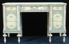 Painted Antique Furniture : Painted Desk :: Painted Furniture