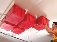 Sliding Storage System for the Ceiling