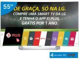 "Smart TV OLED Curva 55"" LG Full HD 3D 55EG9100 - Conversor Digital 3 HDMI 3 USB Wi-Fi 4 Óculos"