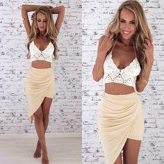 Summer Outfit - Crochet Crop Top - Maxi Skirt - LOVE!