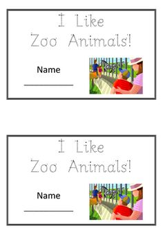 "Emergent Reader ""I like Zoo Animals!"" FREE!! from wilberteaching on TeachersNotebook.com - - Emergent Reader for digital download: I like Zoo Animals Features sight words, Sassoon font handwriting and basic punctuation. Guided reading resource. PDF"