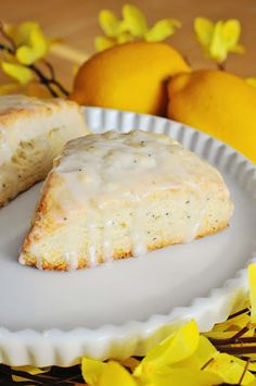 Lemon Poppy Seed Scones | Barefoot and Baking