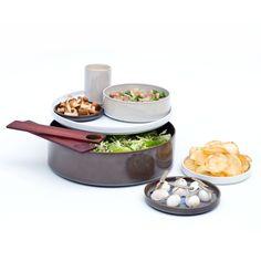 Adonde Jatoba Wood Serving Set, Modern Dining