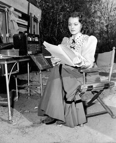 Lorna Gray on the set of 1946's Home on The Range
