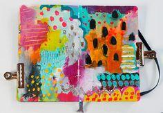 head in the clouds - moleskine art journal spread — Journal Girl - Balzer Designs Art Journal Pages, Art Journals, Visual Journals, Sketchbook Inspiration, Art Sketchbook, Graffiti, Mixed Media Journal, Art Journal Techniques, Creative Journal