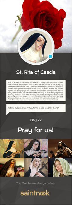 Saint Rita of Cascia  | www.saintnook.com/saints/rita-of-cascia