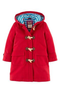 Mini Boden 'Funky Duffle' Toggle Coat (Toddler Girls, Little Girls & Big Girls) | Nordstrom