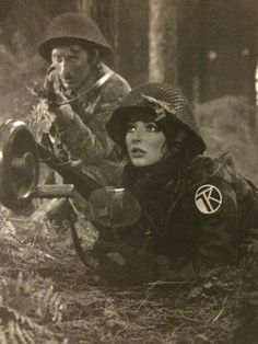 """Shooting the video for the song """"Army Dreamers"""" 1980. Kate photographed by her brother John Carder Bush, from the book """"Kate inside the rainbow""""."""