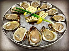 Fresh oyster platter at Boshamps Seafood and Oyster House