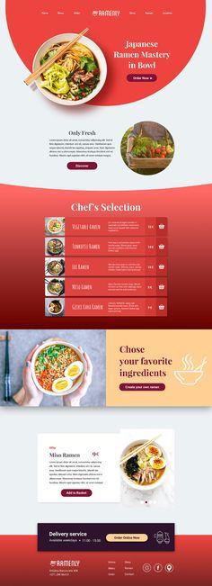 Ramenly - UI/UX Case Study on Behance Ramen Miso, Tonkotsu Ramen, Vegetable Ramen, Japanese Ramen, Order Food, Ui Ux, Food Design, Case Study, Create Yourself