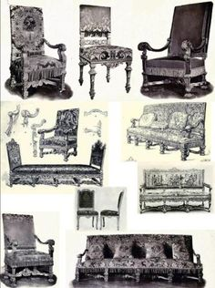 Louis XIV Furniture explained in text and pictures.