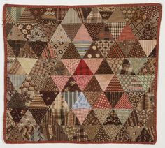 Pyramids Doll Quilt: Circa New Hampshire (item detailed views) Old Quilts, Amish Quilts, Antique Quilts, Scrappy Quilts, Small Quilts, Vintage Quilts, Crib Quilts, Baby Quilts, Vintage Sewing