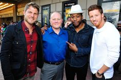(L-R) Travis Van Winkle, Lt. Chad Dulac (USN), Jocko Sims and Kevin Michael Martin attend TNT's 'The Last Ship' USO screening at Reading Cinemas Gaslamp 15 on June 15, 2015 in San Diego, California. 25590_001