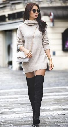 25 Perfect and Stylish Boots to Spice Up Your Winter Outfit Source by Miaolazaba outfits invierno Trendy Fall Outfits, Casual Winter Outfits, Winter Fashion Outfits, Classy Outfits, Look Fashion, Pretty Outfits, Stylish Outfits, Autumn Fashion, Stylish Boots