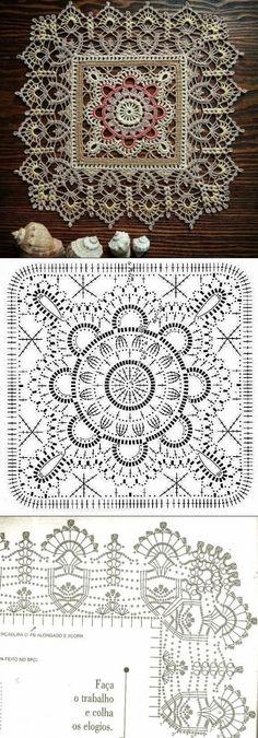 Transcendent Crochet a Solid Granny Square Ideas. Inconceivable Crochet a Solid Granny Square Ideas. Crochet Flower Squares, Crochet Doily Diagram, Crochet Flowers, Crochet Lace, Crochet Doilies, Simple Crochet, Motifs Granny Square, Granny Square Crochet Pattern, Granny Squares