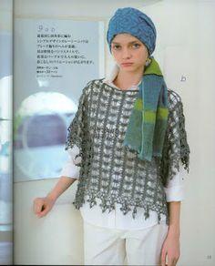 Receitas de Crochet: Túnica super fácil de crochet