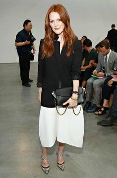 Moda para mulheres com 50 anos ou mais: Julianne Moore