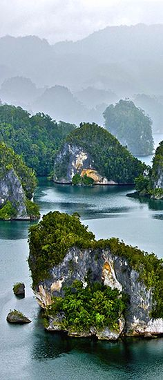 Indonesia always be the most beauty :) Raja Ampat Islands By Yann Arthus-Bertrand #indonesia #travel
