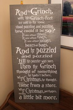 The Grinch Christmas Sign by rachaelwindemuller on Etsy, $35.00
