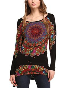 Desigual Women's Woman Long Sleeves Kaley T-Shirt, Black, Small Desigual http://www.amazon.com/dp/B00JF3IPL4/ref=cm_sw_r_pi_dp_DPWmub1KWKWFW