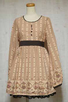 Ank Rouge Long Sleeve Dress Japanese Style Fashion Lolita Kawaii Cute Dreamy 04 #AnkRouge #Lolita #Casual