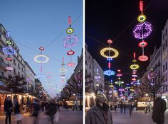 Ben Busche Architects / Brut Deluxe were commissioned by the City of Geneva to create a light installation for the city, as part of a light festival, that runs until the 6th of January, 2016.
