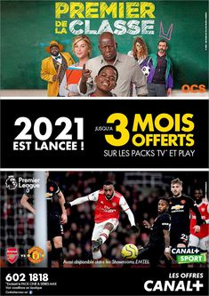 CANAL+: 2021 EST LANCEE ! Tél: 602 1818 | Adverts - Latest Arsenal, Canal Plus, Us Supreme Court, Play, Sport, Tv, Email Marketing, Investing, Yachts