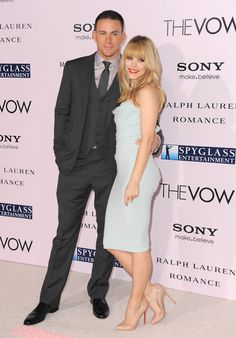 Channing Tatum and Rachel McAdams at The Vow premiere
