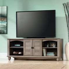 Sauder Harbor View Entertainment Credenza | from hayneedle.com