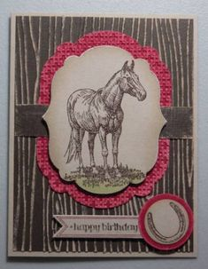 Early Espresso Horse by amyk3868 - Cards and Paper Crafts at Splitcoaststampers