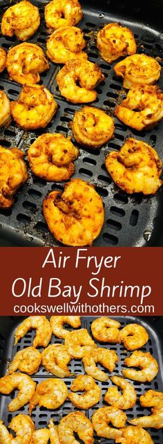 Healthy, delicious, and easy to make Air Fryer Old Bay Shrimp is served with an Old Bay Aioli meals air fryer Air Fryer Old Bay Shrimp - Cooks Well With Others Air Fryer Oven Recipes, Air Frier Recipes, Air Fryer Dinner Recipes, Air Fryer Recipes Shrimp, Seafood Recipes, Cooking Recipes, Healthy Recipes, Seafood Appetizers, Ninja Recipes