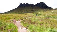 Walking, Stac Pollaidh, Scottish Highlands, Scotland (Credit: Terry Ward)