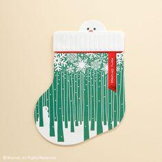 바른손그리팅스 양말 속에 숨어있는 산타의 친구를 찾아보세요. Merry Christmas! #크리스마스 #양말 #눈사람 #바른손그리팅스 #카드 #Merry #Christmas #Stocking #gift #snowman #Barunsongreetings #card