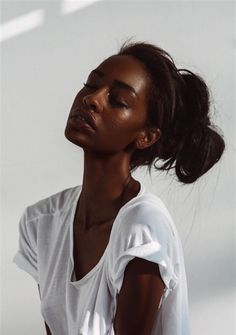 Character Inspiration - black skin woman - brown hair